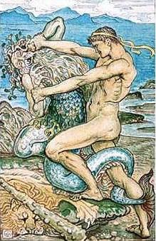 Proteu é simbolizado na imagem de um ancião