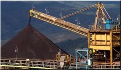 Produção de minério de ferro no Quadrilátero Ferrífero
