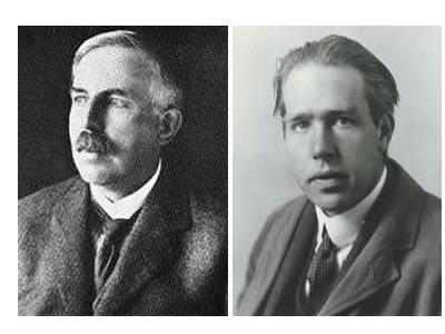 Ernest Rutherford e Niels Bohr