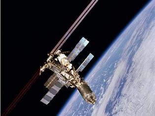 Satélite em órbita
