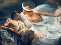 Selene é a deusa da lua
