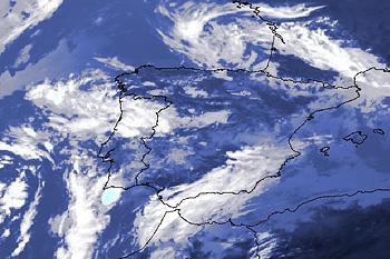 Imagem de satélite que mostra a dinâmica da atmosfera