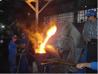 Fusão do ferro ocorre com temperatura superior a 1250 ºC