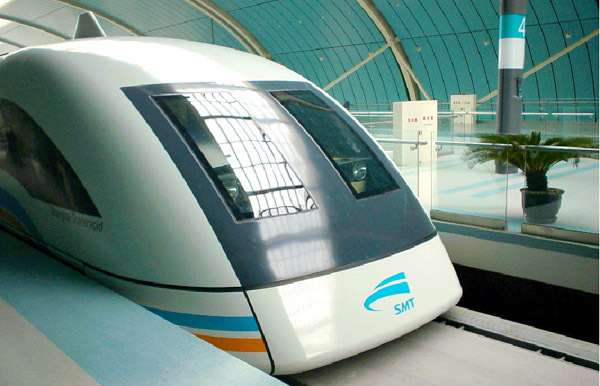 Protótipo em tamanho real do trem Maglev