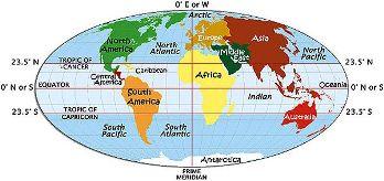 As faixas climáticas estão ligadas às latitudes