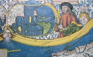 Gravura com Américo Vespúcio