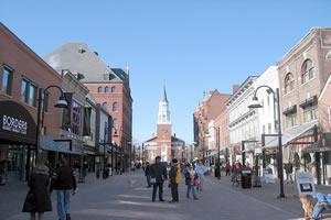 Burlington, a maior cidade de Vermont
