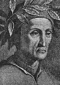 """Dante Alighieri, autor da obra """"A Divina Comédia"""""""