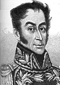 Simón Bolívar, lutava contra a presença espanhola na América do Sul
