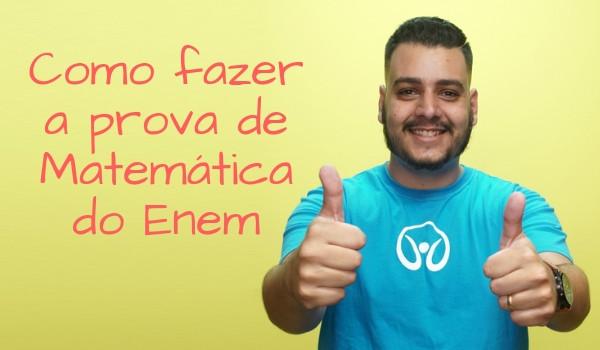 Professor Pedro Ítalo recomenda começar pelas questões fáceis