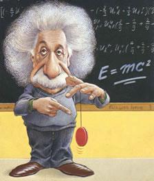 Caricatura do físico mais importante do século XX