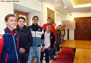 Os dez primeiros bolsistas brasileiros, em Salamanca