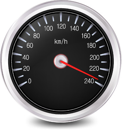 O velocímetro é o instrumento utilizado para medir a velocidade dos automóveis