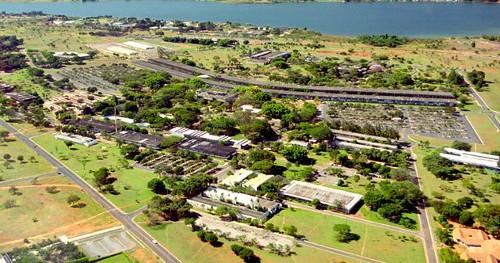 Vista aérea do Campus Darcy Ribeiro (Foto de Augusto Areal)