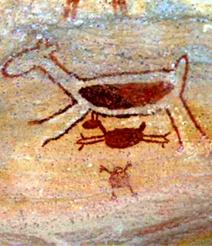 As pinturas rupestres são objetos de estudos da Arqueologia