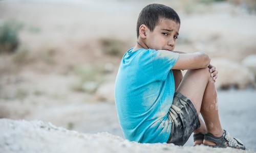 Crianças não são poupadas da triste situação na Síria