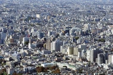 Espaço urbano da cidade de Tóquio, no Japão. O maior aglomerado urbano do planeta.