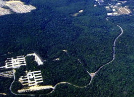 Vista aérea do Campus Universitário