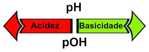 A acidez e a basicidade podem ser determinadas pelo pH e pOH