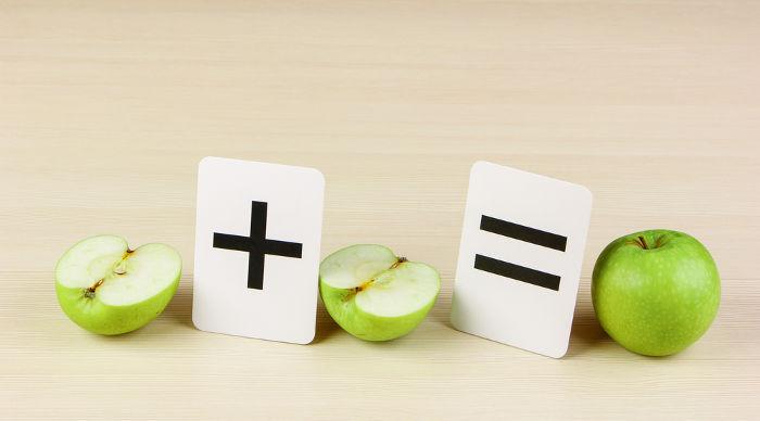 A soma de duas metades é igual a um inteiro