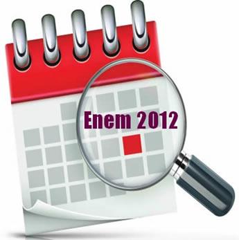 O Enem 2012 ocorrerá nos dias 3 e 4 de novembro