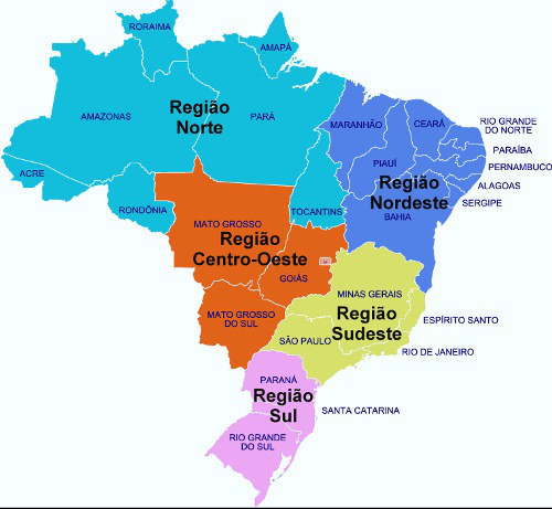 As regiões brasileiras são assuntos recorrentes no Enem
