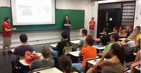 Aulas do Projeto Aprender são realizadas no ICMC da USP / Créditos: Henrique Fontes - ICMC USP