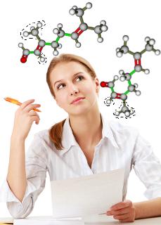 Candidata pensando em moléculas de citral, que realizam isomeria geométrica ou cis-trans