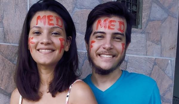 Juliana e André se conheceram em um cursinho para o Enem