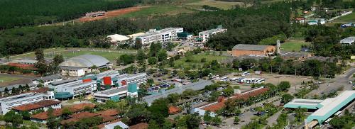 Imagem aérea do Campus