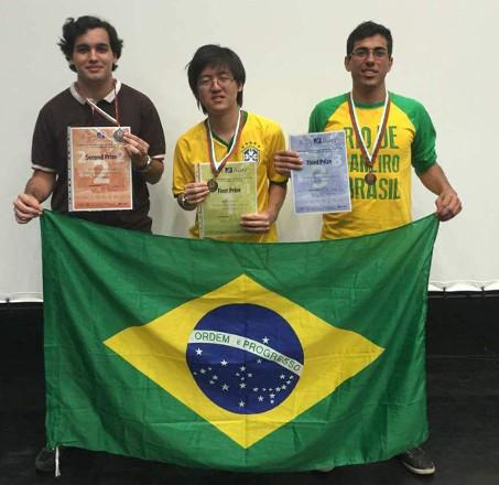 Estudantes brasileiros conquistaram ouro, prata e bronze em competição internacional - Créditos: CTC/PUC-Rio