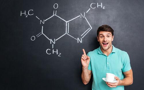 Exemplo estrutural da cadeia carbônica da cafeína