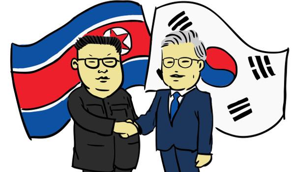 Kim Jong-un e Moon Jae-in assinam declaração de paz