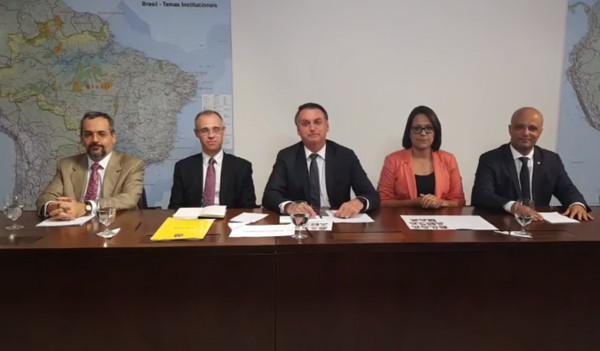 Fala polêmica de ministro foi dita em um vídeo ao vivo em rede social do presidente Bolsonaro