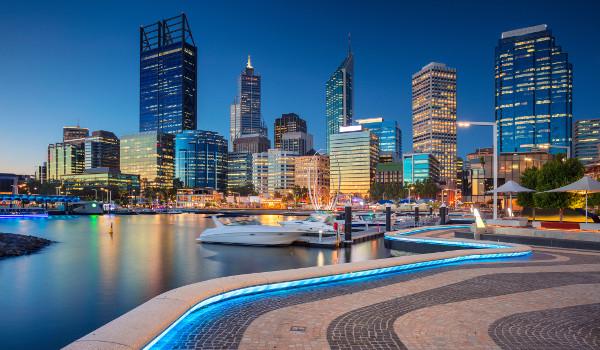 Perth fica localizada na Austrália Ocidental e possui 2 milhões de habitantes
