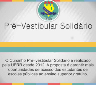 O Pré-vestibular solidário atende estudantes de baixa renda.