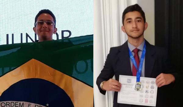 Robson e Francisco ganharam medalha de ouro na AIMO 2018