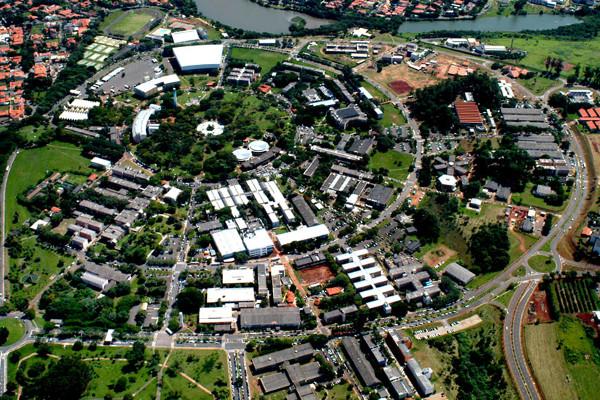 Vista aérea da Universidade Estadual de Campinas (Unicamp)