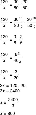 Resolução de regra de três composta com as grandezas quantidade de alunos, tempo e peso
