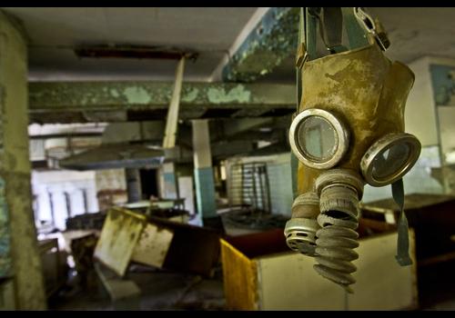 A usina de Chernobyl liberou uma quantidade letal de material radioativo que contaminou uma grande região da atmosfera.