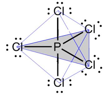 Geometria bipirâmide trigonal do pentacloreto de fósforo