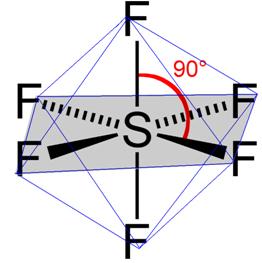 Geometria octaédrica do hexafluoreto de enxofre
