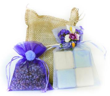 Ideias de embrulhos para os sachês perfumados