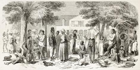 O tráfico de escravos africanos constituiu as bases do comércio no Oceano Atlântico e auxiliou na formação do mercado mundial
