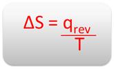 Fórmula matemática de cálculo da variação da entropia