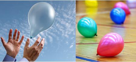 Se um balão contendo gás com massa molar menor do que 28,96 g/mol for solto no ar, ele irá subir; mas se for maior, ele irá descer