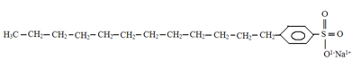 Estrutura de um detergente, o sulfato sódico de laurila