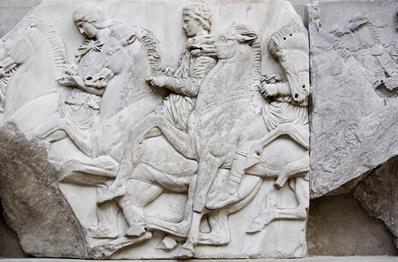 Representação de cavaleiros gregos