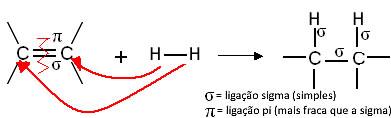 Reação orgânica de hidrogenação. Hidrogenação Catalítica