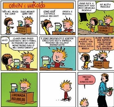 Tirinha de Calvin e Haroldo